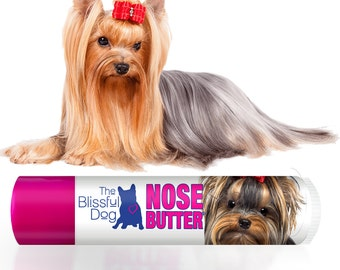 Yorkshire Terrier NOSE BUTTER® Handcrafted All Natural Balm for Dry Dog Noses Choice: One .15 oz Tube or 3-Pack .15 oz Tubes Yorkie Label