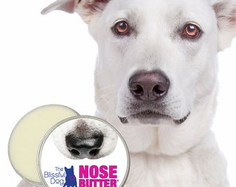 Original Dog NOSE BUTTER® Handcrafted All Natural Moisturizing Salve for Dry or Crusty Dog Noses HUGE 16 oz. Tin With Just A Nose Labels