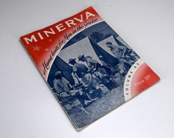 Minerva Hand Knits for Men in the Service WWII Knitting Patterns Booklet 1941 First Edition