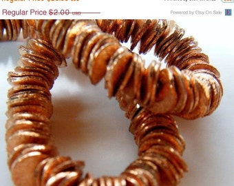 SALE 12mm Wavy Discs 100 pieces Brushed Finish in Copper or Brass Your Choice