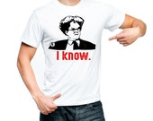Dr Brule I KNOW funny Quote fan art Mens white red t Tee Shirt eric birthday hunk comedy present doctor dingus rules and gift sign tim show