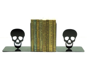 Skull Metal Art Bookends - Free USA Shipping