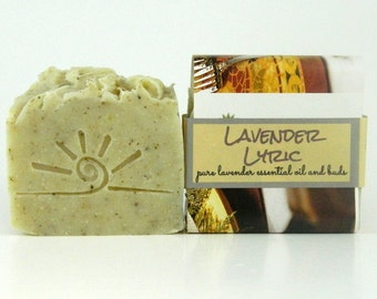 Lavender Soap / Organic and Natural Ingredients /  Cold Process Soap / Stocking Stuffer