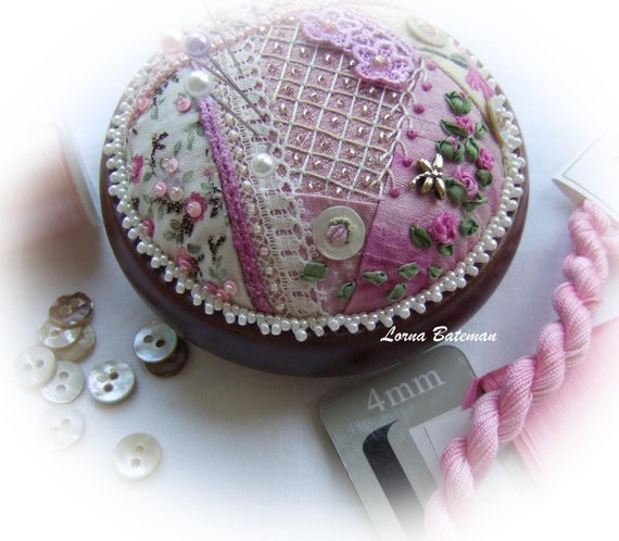 PP16 Crazy Patchwork Heirloom Treasure - pincushion kit