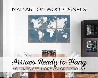 Large World Map - Worldmap - Traveler Gift - Extra Large Map - World Map for Kids - Wall Art World Map - World Map Art Print - Map Artwork