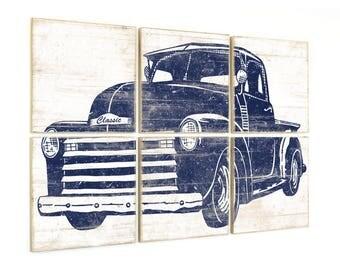 Boy Truck Room Decor - Kids Playroom Print - Truck Boy Bedroom - Chevy Truck Decor - Pickup Truck - Truck Art - Truck Print - Truck Decor