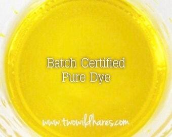 LEMON Bath Bomb Dye, Batch Certified FD&C Yellow 5, 94% Pure Dye, Cosmetic Colorant, 1 oz
