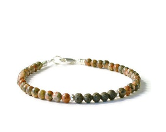 Lava Rock and Leopard Jasper Aromatherapy Essential Oil Diffuser Bracelet
