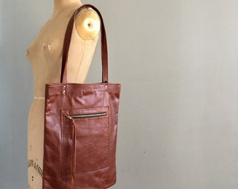 READY to SHIP - The HACKER - Leather Bag - Leather Tote - Leather Laptop Bag - Leather Computer Bag - Book Bag - Womens - Mens - More Colors