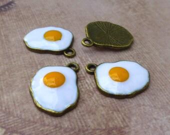 free shipping in UK -  Pack of 5 Fried Egg Pendant Egg Charm Easter Pendant