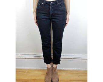 Vintage Lois Black High Waist Jeans/ Size 28-29 W/ 30-31 M