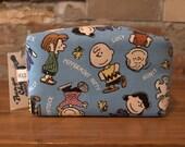 Peanuts Snoopy Woodstock Rectangular Zipper Pouch