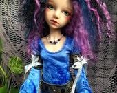 Ocean Blue fantasy dress for MSD