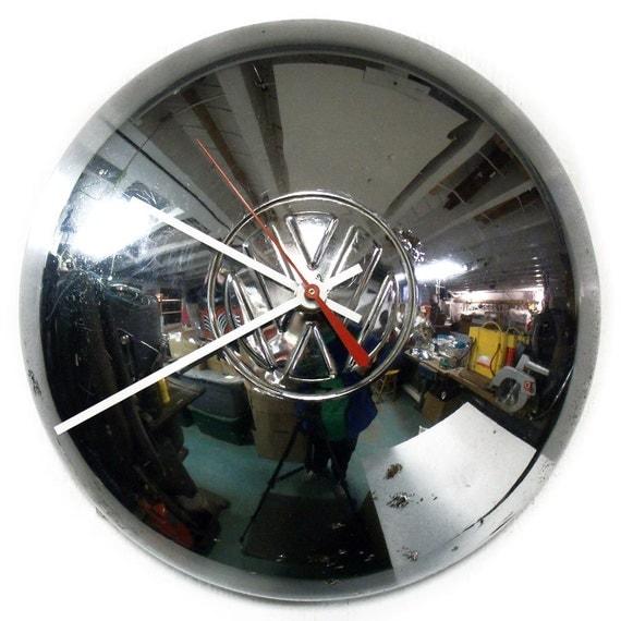 VW Bus Wall Clock - Volkswagen Ghia Hubcap Clock