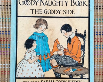 """The Goody-Naughty 1930 Illustrated """"Flip-Over"""" Book, R"""