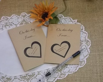 Wedding Vow Book Set