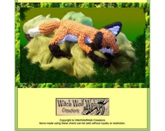 Little Fox Toy Knitting Pattern