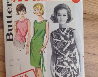 Vintage Butterick 2627 Mod Shift Dress • size 14