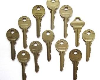 Key collection 12 keys Vintage stamping keys Antique keys DIY Stamping keys Old keys for stamping Blank keys Blank side Stampable BK A1 #34