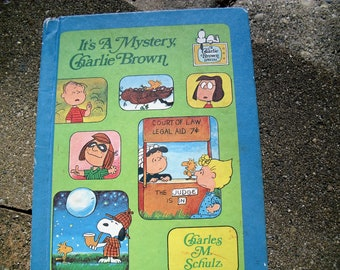 Vintage Book It's A Mystery Charlie Brown by Charles M. Schulz