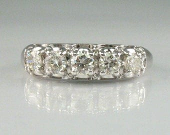 Vintage Women's  Diamond Wedding Ring – 0.48 Carats Diamond Total Weight - Appraisal Included