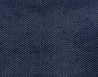 Fabric, Navy Blue Cotton Duck, Medium-Heavyweight. Upholstery, Pillows, Bags. Ready to Ship, You Pay Shipping.