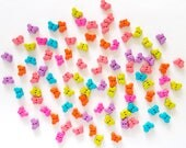60 pcs Tiny Butterfly Buttons 2 Holes  Mix Color Pink Purple Red Green Blue Size 5 x 7 mm