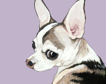 Custom Portrait - Hand Painted 8x10 inch Pet Portrait using your Photo as a reference - Fathers Day Gift Idea