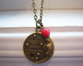 I Love You To The Moon And Back Necklace - I Love You Necklace - Free Gift With Purchase