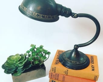 Vintage Industrial Adjustable Desk Lamp, 1940's, Eagle Lamp