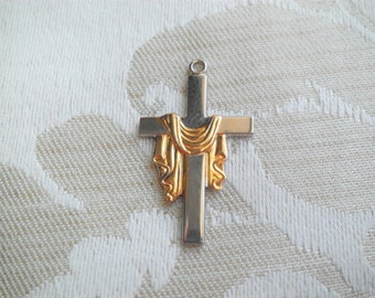 Sterling Silver Easter Cross Charm