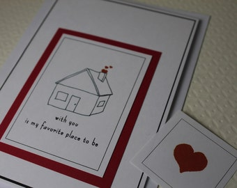 with you is my favorite place to be - blank Greeting Card