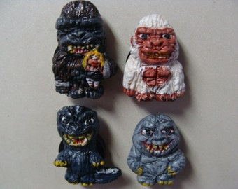 Dai-Kaiju(Giant Monsters)Fathers & Sons Refrigerator Magnets set(Fullbody/Cutie style)