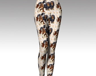 English Toy Spaniels and Paisley Leggings