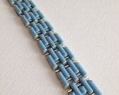 Coro Bracelet Baby Blue Light Blue Thermoset Plastic