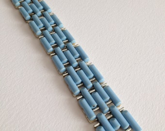 Coro Bracelet Baby Blue Light Blue Thermoset Plastic