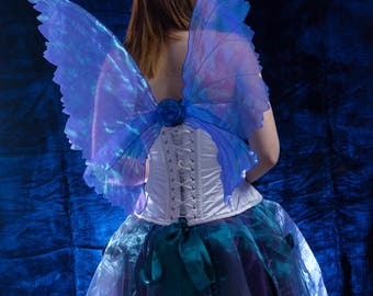 Iridescent mid purple life like fantasy fairy wings adult.