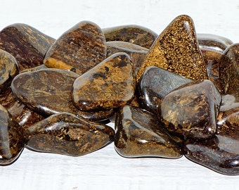 Polished Bronzite Tumbled - Stone for Your Inner Hero