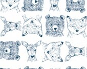 Dear Stella - Blue Moon Collection - Woodland Critters in White
