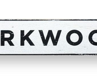 Kirkwood  block letters neighborhood sign 27 x 6