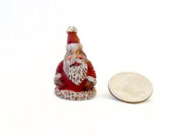 """1"""" Micro Santa, Hand Painted Santa, Resin Santa, Santa Claus, Christmas Santa Claus, Santa, Small Santa, Christmas, New York Treasures"""