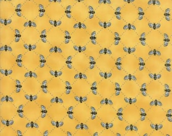 Deb Strain..Bee Inspired..honeybees in honey yellow..your choice of cuts Moda 19796-13