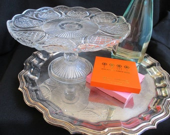 Pedestal Cake Stand, Glass Pastry Stand, Wedding Cake, English Cake Stand, Cake Plate, Cupcake Stand