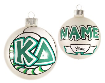 Customizable Kappa Delta Ornament with Nautilus