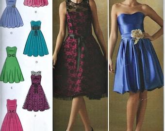 UNCUT Simplicity Miss - Misses Dresses Pattern D0530 Size P5 (12-20) Prom Style Short Dress