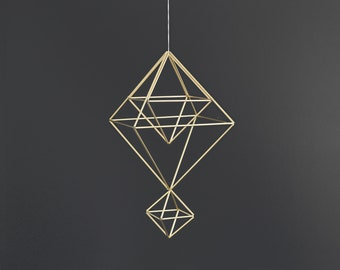 PAX - Modern Hanging Mobile - Geometric Sculpture - Himmeli - Air Plant Holder