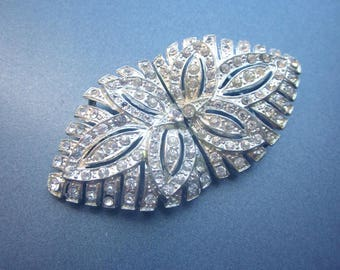 Vintage Rhinestone Buckle Bridal Accessory Sewing Supply