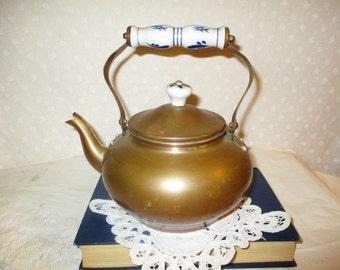 Copper Tea Kettle with Ceramic Handles Aluminum