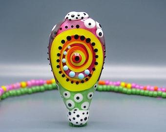 Dancing Dots- Art Glass by Michou P. Anderson - ( Label: Sonic & Yoko )