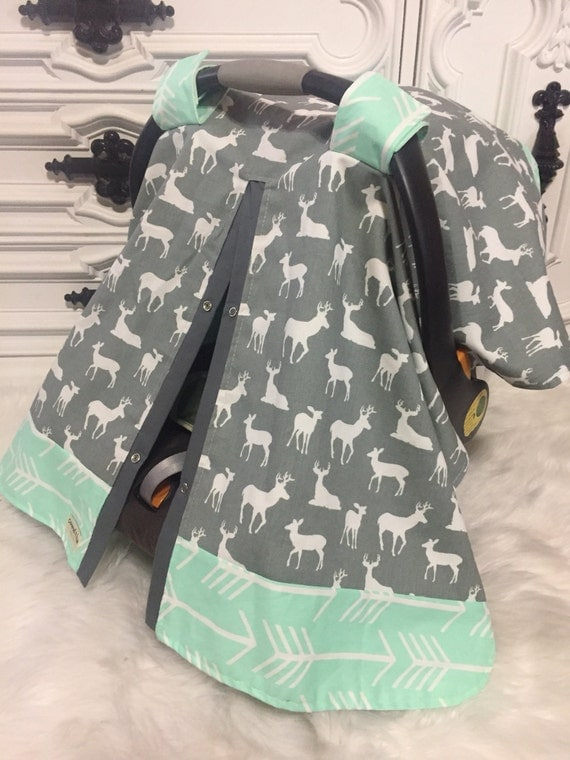Carseat Canopy deer and arrow / car seat cover / nursing cover / carseat canopy / carseat cover